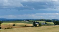 Heavy cloud, light in the fields