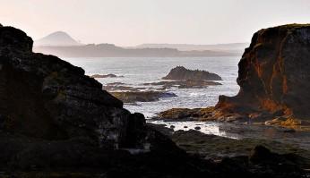 Distant shore and North Berwick Law
