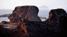 A glimpse of the Bass Rock