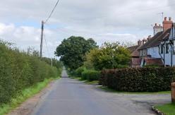 A straight lane