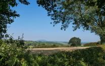 Autumn fields and the Wrekin