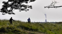 Walkers (and distant cement works)