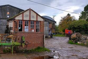Peaton farmyard - with signalbox?