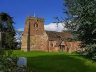 ... beside Cound church