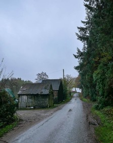 It's grey in Shirlett Lane...