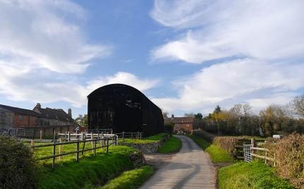 The big black barn