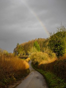 ... and a rainbow over Britons Lane
