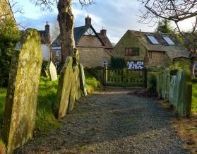 Through the churchyard