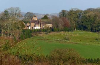 Barrow, across the fields