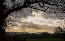 Shropshire hills in December