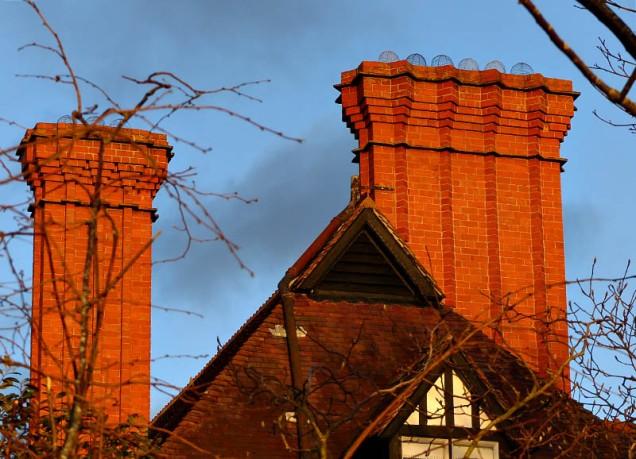 Red hot chimneys