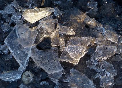Sunlit ice