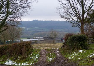 Farm and Wenlock Edge