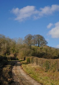 The lane to Round Hill