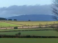 Sunlit fields and the Wrekin