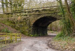 Old railway bridge - the start of Caughley Road