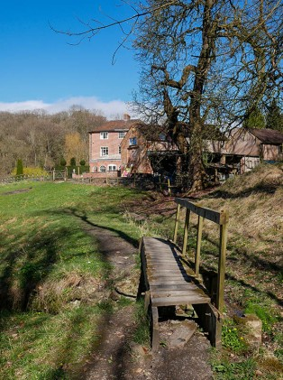 Sheinwood manor and the old mill race