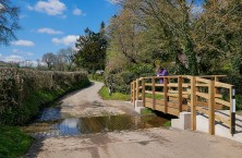 The ford and footbridge