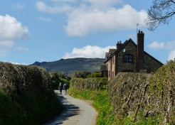 ... and view to Caer Caradoc