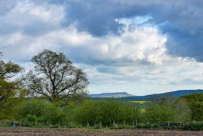 Clearing skies over Titterstone Clee
