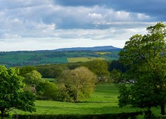 Spring light and Titterstone Clee