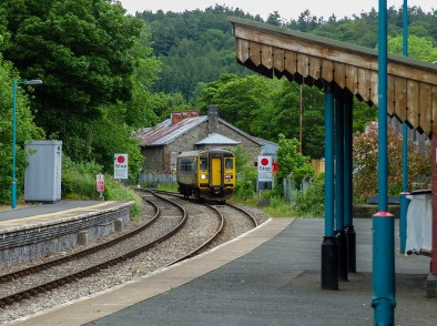 Knighton - our train approaches