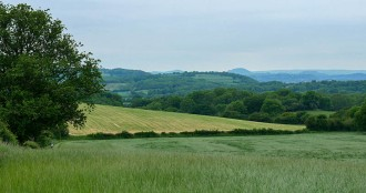A view to the Stretton Hills