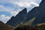 Crags and clouds