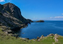 The cliffs and Rubha Voreven
