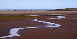 Winding across the sands