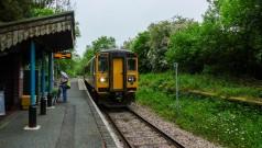 Llangunllo - our train departs