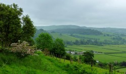 Descending towards the Teme valley