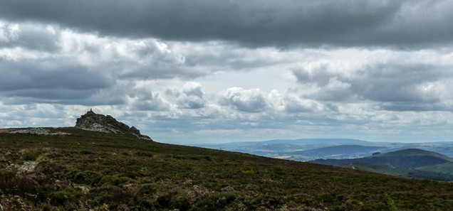 Manstone Rock and (skyline) Radnor Forest