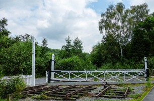 The old level crossing gates