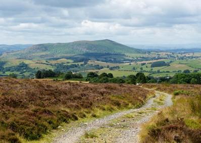 The road to Corndon Hill