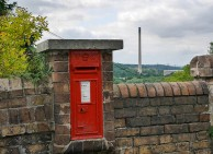 Postbox and chimney