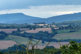 Clee hills to the south...