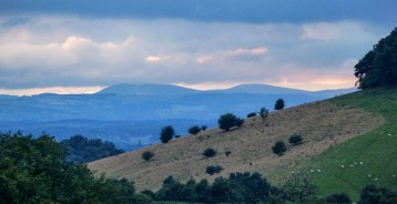 ...and the Berwyns - Welsh hills to the west