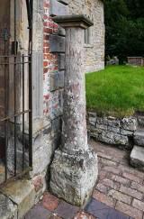 Ancient pillar at Barrow church