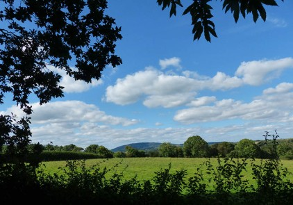 From 'The Slip' - a view to the Wrekin