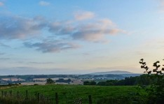 Evening sky over the Clee hills