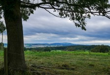 Grey skies over the Shropshire hills