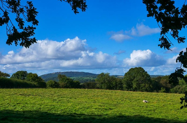 Back up to Broseley - a view to the Wrekin