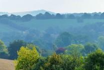 Along the airy ridge